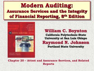 Modern Auditing: Assurance Services and the Integrity of Financial Reporting, 8 th  Edition