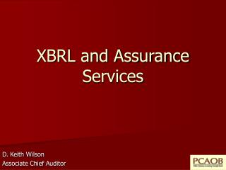 XBRL and Assurance Services