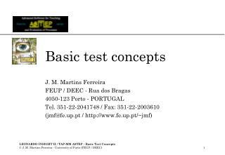 Basic test concepts