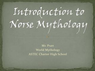 Introduction to Norse Mythology
