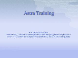 Astra Training