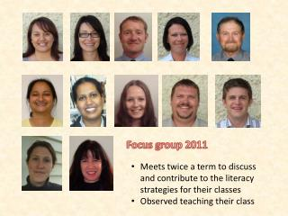 Focus group 2011