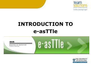 INTRODUCTION TO  e-asTTle