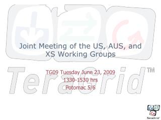 Joint Meeting of the US, AUS, and XS Working Groups
