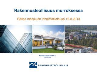 Rakennusteollisuus RT ry Heikki Koho