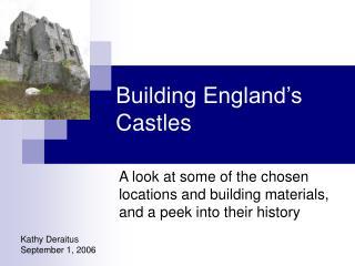 Building England�s Castles