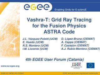 Vashra-T: Grid Ray Tracing for the Fusion Physics ASTRA Code