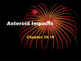 Asteroid Impacts