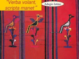 """ Verba volant, scripta manet """