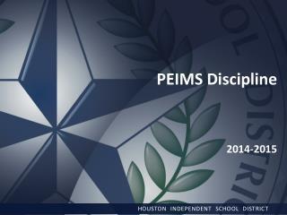 PEIMS Discipline 2014-2015