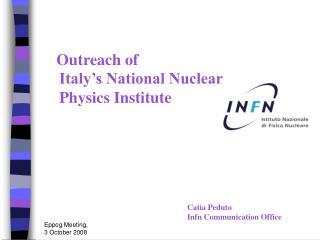 Catia Peduto Infn Communication Office