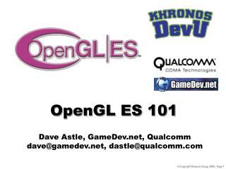 OpenGL ES 101