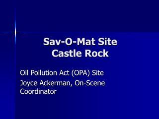 Sav-O-Mat Site  Castle Rock