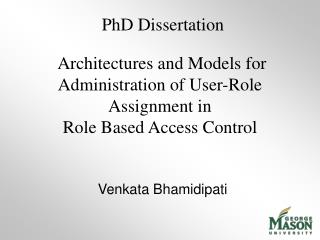 Architectures and Models for Administration of User-Role Assignment in  Role Based Access Control