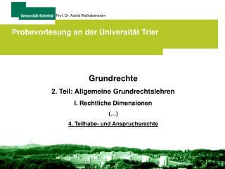 Probevorlesung an der Universität Trier