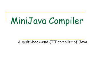 MiniJava Compiler