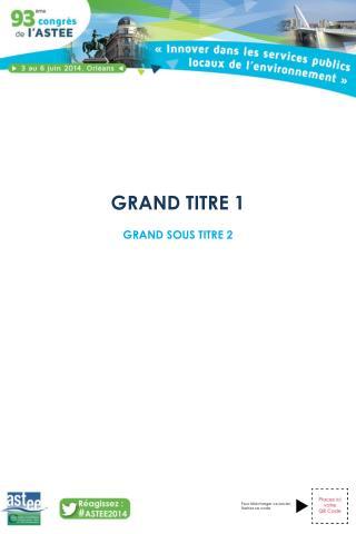GRAND TITRE 1