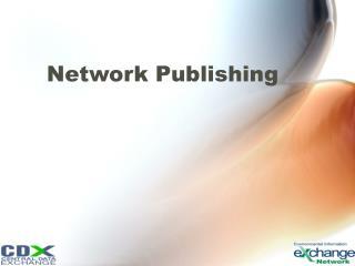 Network Publishing