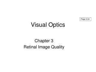 Visual Optics