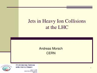 Jets in Heavy Ion Collisions  at the LHC