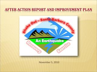 AFTER ACTION REPORT and IMPROVEMENT PLAN