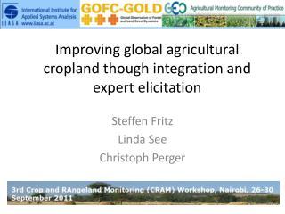 Improving global agricultural cropland though integration and expert elicitation