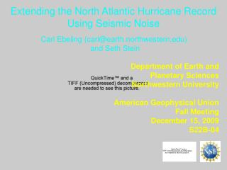 Extending the North Atlantic Hurricane Record Using Seismic Noise