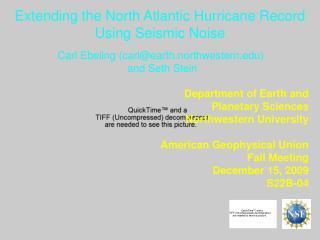Extending the North Atlantic Hurricane Record Using Seismic Noise