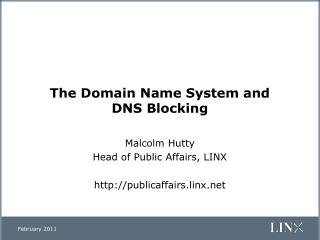 The Domain Name System and  DNS Blocking