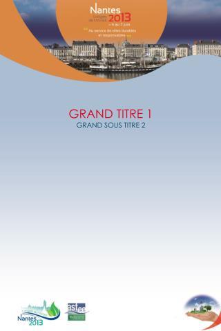 GRAND TITRE 1 GRAND SOUS TITRE 2
