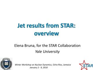 Jet results from STAR: overview