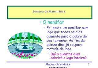 Semana da Matemática