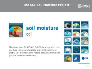 The CCI Soil Moisture  Project