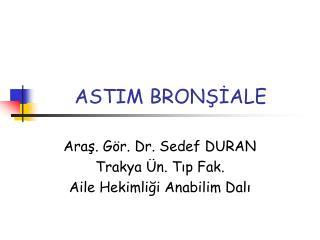 ASTIM BRONŞİALE