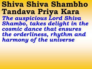 1250_Ver06L_Shiva Shiva Shambo Tandava Priya Kara