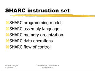 SHARC instruction set