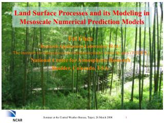 Land Surface Processes and its Modeling in Mesoscale Numerical Prediction Models