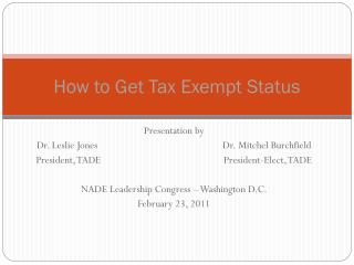 How to Get Tax Exempt Status