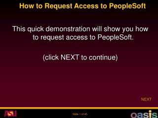 How to Request Access to PeopleSoft