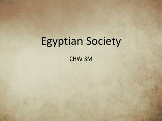 Egyptian Society