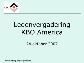 Ledenvergadering KBO America