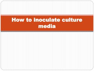 How to inoculate culture media