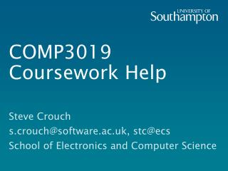 COMP3019 Coursework Help