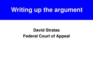 David Stratas Federal Court of Appeal
