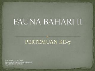FAUNA BAHARI II