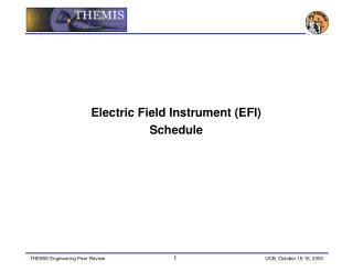 Electric Field Instrument (EFI) Schedule
