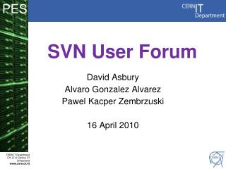 SVN User Forum