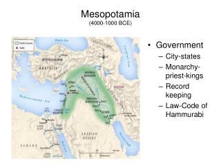 Mesopotamia (4000-1000 BCE)