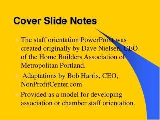 Cover Slide Notes