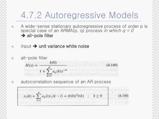 4.7.2 Autoregressive Models